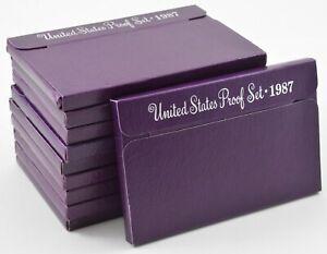 Lot of 10 Sets - 1987-S US Mint Proof Cent Nickel Dime Quarter Half Dollar *0938