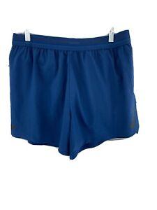 "nike men's AEROSWIFT running racing shorts 5"" Blue/Green AQ5302-492"