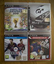 X PS3: FIFA STREET + FIFA 14 + MONDIALI FIFA SUDAFRICA 2010 + GRAN TURISMO 5 PRO