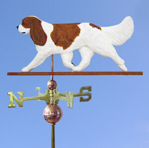 Cavalier King Charles Spaniel Hand Carved Hand Painted Basswood Dog Weatherva...