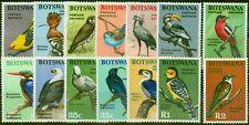 More details for botswana 1967 birds set of 14 sg220-233 fine lightly mtd mint