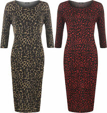 Party Animal Print 3/4 Sleeve Dresses for Women
