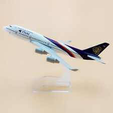 16cm Airplane Model Plane Air Thai Airlines Boeing 747 B747 Aircraft Model Toy