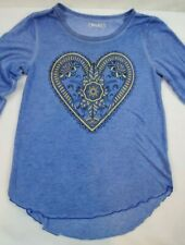 MUDD Girls Lace Back Raglan Tee 3//4 Sleeves Radiance Graphic T-Shirt MSRP $24