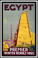 Egypt  Vintage old Travel Poster Print art canvas large painting