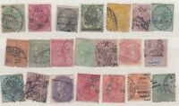 British Commonweallth QV Unchecked Collection of 21 Used X9422