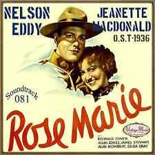 ROSE MARIE Soundtrack CD #81/100 O.S.T Film 1936 Nelson Eddy Jeanette Macdonald