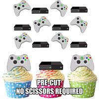 PRECUT Xbox Console Controller 12 Edible Cupcake Toppers Birthday Decorations