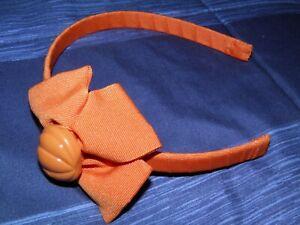 "GYMBOREE ""Butterfly Girl"" Orange Pumpkin Bow Headband"
