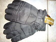 Weather Beaters Men's WATERPROOF Black Winter Gloves 40 gr Insulation Size L-XL