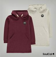Girls SoulCal Super Soft Ribbed Kangaroo Hoody Dress Sizes from 7 to 13