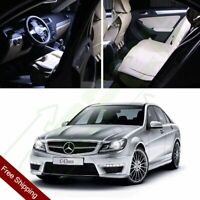 14X White Interior LED Package Light For Mercedes Benz C-Class W203 2000-2007