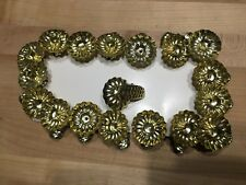 Vintage Look Christmas Tree Candle Holder Lot 18 Metal Pine Cone Clip Excellent