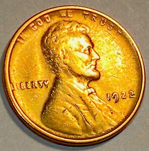 1922 Plain NO D Lincoln Cent Die Pair # 2 AU++++++ UNC ?