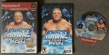 WWE SmackDown Here Comes the Pain PlayStation 2 2003 PS2 Complete Scratched