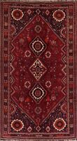 Vintage Geometric Abadeh Area Rug Wool Hand-Knotted Oriental Nomad Carpet 7'x11'