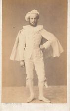 CDV Photo France A Man in Theatrical Costume by Trepant of Peronne Dated 1863