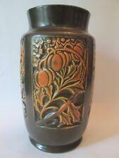 FLORAL VASE! Vintage ROSEVILLE ART pottery original ROSECRAFT PANEL pattern EXC