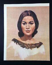 "1966 Vintage New Zealand Full Color Art Plate ""KIRI TE KANAWA"" McIntyre Litho"