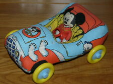 Vintage 1970's Mickey Mouse Club Plush Car with Mickey Figure