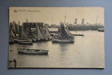 R&L Postcard: Belgium Ostende Barques de Pecheurs, Saing Boats Smacks Vessels