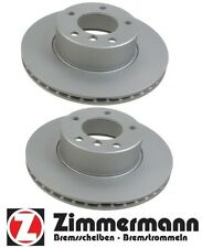 For BMW E39 525i 528i Pair Set Of 2 Front Disc Brake Rotors Zimmermann 150128420