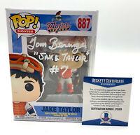 TOM BERENGER SIGNED AUTOGRAPH MAJOR LEAGUE FUNKO POP JAKE TAYLOR BECKETT BAS 82