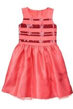 NWT Gymboree Dress Sz ~7 ~Coral Duppioni Formal Holiday Wedding Formal Dress