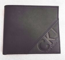 Calvin Klein 100% authentic real soft leather wallet black