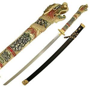 Highlander Sword Ramirez Katana Connor MacLeod Duncan Dragons Head Steel Blade