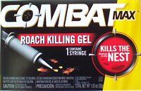 Combat Max ROACH KILLING GEL Kills The Nest 1 Syringe New in Factory Box 1.05 oz