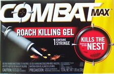 Combat Max ROACH KILLING GEL Kills The Nest 1 Syringe New in Factory Box 1.05 oz