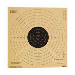 Luftgewehrscheiben 17 x 17 cm / Zielscheiben für Luftpistole Wettkampfscheibe Ho