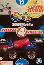 Zoobmobile Mini 4 Wheeler car building set, rolls over 20 feet