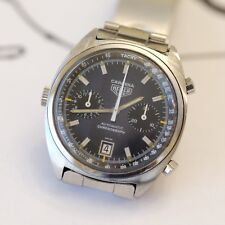 Vintage Heuer Carrera Chronograph Mens Watch Ref. 110.253 - 1970's - Blue Dial