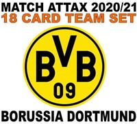 Match Attax Champions League 2020/21 BORUSSIA DORTMUND 18 card team set