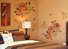 UK 70*50CM Luxury Peony Flowers Wall Stickers Home Decor Vinyl Decals Mural lxj