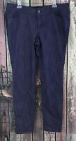 Women's FOREVER 21 Plus Purple Straight Ankle Skinny Denim Jeans Pants Size 14