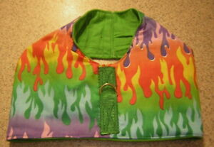MULTI FLAMES HARNESS VEST ITALIAN GREYHOUND DACHSHUND MIN PIN CHINESE CRESTED