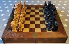 Schachbrett groß mit Figuren aus Holz, KH12cm