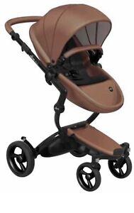 New! 4G Mima Xari Stoller Black - Carmel - Black starter Pack Complete Stroller