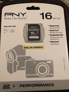PNY 16GB Performance SDHC - Class 4 New NIP Magnet Proof