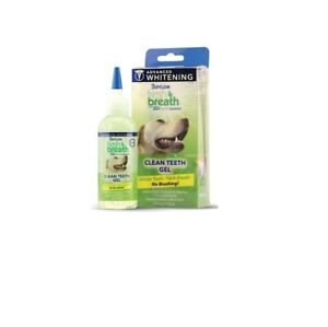 TropiClean Fresh Breath Advanced Whitening Gel Kit for dog 3DMicroGuard 4oz
