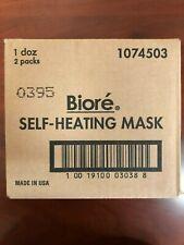 1 Box Biore Self Heating Mask 8 masks Per Pack  12 Packs per Box