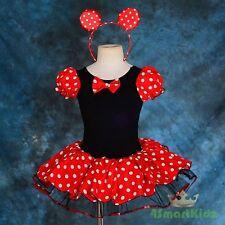 Minnie Mouse Tutu Dance Costume Fancy Party Dress Up Headband Girl Size 7 FC028