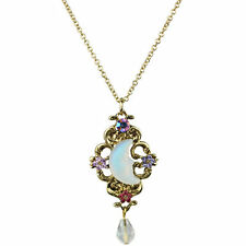 NEW KIRKS FOLLY MOON SHADOW STAR DAZZLE NECKLACE ANTIQUE GOLDTONE