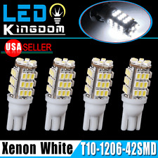 4 X T10 White Car 42-smd Backup Reverse LED Light Bulb 2825 906 168 192 W5W US