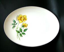 "Crown Essex Yellow Rose 14"" Platter"