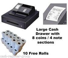 NEW CASIO SE-S10 CASH REGISTER Till Inc.Vat 8 coin 4 note Drawer & 10 Free Rolls