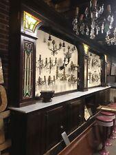 Antique Back Bar Stained Glass Back Bar. Old Tavern Back Bar Man cave Bar